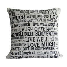 Live Laugh Love Pillow | Dorm Room Decor | OCM.com
