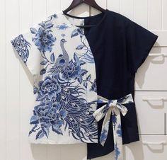 Blouse Batik, Batik Dress, Batik Blazer, Kimono, Dress Sewing Patterns, Clothing Patterns, Blouse Styles, Blouse Designs, Batik Fashion