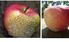 DIY: Decorating with German Glass Glitter Easy to make iced or german beaded fruit