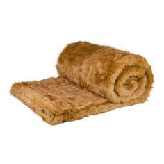 #AddWarmth throw honey bear faux fur 200x240cm