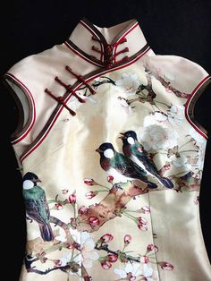Premium Silk Top Tailor Artistry Cheongsam Qipao by OrientalGrace, so cute!