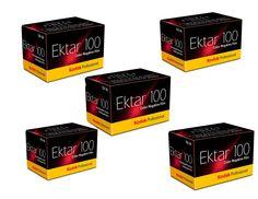 Kodak 35mm Ektar 100 Color Negative (Print) Film 36 Exp. lot of 5 Rolls