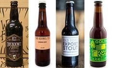 Four of the best … Decadence Stout, London Sour, Old Ford Export Stout and Green Gold by Mikkeller. Beer Brands, Old Fords, Guinness, The Guardian, Green And Gold, Craft Beer, Brewery, Beer Bottle, Tea Pots
