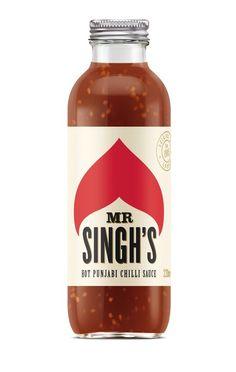 Mr Singh's hot sauce - pearl fisher #design #packaging #bottle