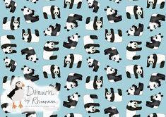 Drawn by Rhiannon panda print design blue background Panda Drawing, Photoshop Me, White Pencil, Blue Backgrounds, Print Design, Sketches, Black And White, Drawings, Inspiration