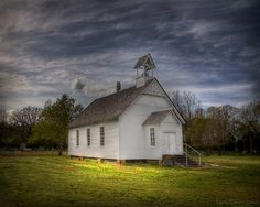 This is Smyrna Church, the oldest antebellum church in Arkansas. Built in it was recently restored by the White County Historical Society. It looks like my home church. Abandoned Churches, Old Churches, Take Me To Church, My Church, Old Time Religion, My Father's House, Old Country Churches, Cathedral Church, Church Building