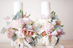 issaevents aranjamente nunta Sams, Floral Arrangements, Pink White, Floral Wreath, Pastel, Wreaths, Table Decorations, Weddings, Boho