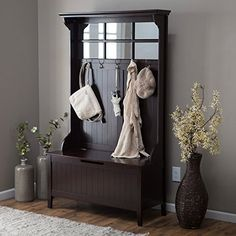 A classic beauty, the Richland Hall Tree – Espresso really has it all. Its timeless, traditional appeal, solid wood frame and birch veneer construction are coolly complemented by a rich espresso finish. Five double hooks serve as the perfect place to hang coats, hats, scarves, and the... more details available at https://furniture.bestselleroutlets.com/entryway-furniture/hall-trees/product-review-for-belham-living-richland-hall-tree/