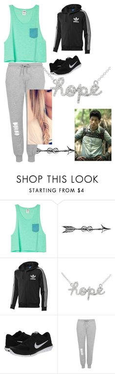 """""""The Maze Runner, Minho"""" by nbrmacdonald ❤ liked on Polyvore featuring adidas Originals, Sydney Evan, NIKE and Topshop"""