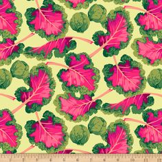 FreeSpirit Veggies Kale Bright - Fabric.com Watermelon Radish, Vegetable Prints, Summer Quilts, All Fruits, Free Spirit Fabrics, Quilting Projects, Shades Of Green, Kale, Accent Decor