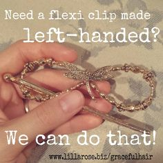 If you're a lefty (like me!) and put your flexi clips in from the left, then some of the centerpieces will be upside down in your hair. But the good news is that Lilla Rose can make any flexi clip left-handed for you! As soon as you finish making an order, send an email to help@lillarose.biz with your order number and specify which items you need left-handed. It's that easy!