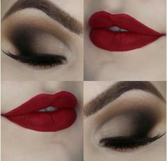 Make up ideas Eyeshadow looks Eyes and lips makeup