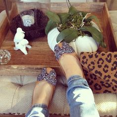 accessories in a tray.  oh, and the Tory Burch flats.  and the leopard clutch.  and the tufted herringbone ottoman.  oh, and... :) Moth Design