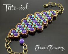Beading pattern seed bead pattern beaded lace por BeadedTreasury