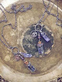 Wire Wrapped Jewelry, Wire Jewelry, Beaded Jewelry, Jewelery, Handmade Jewelry, Wiccan Jewelry, Bottle Jewelry, Bottle Necklace, Diy Necklace