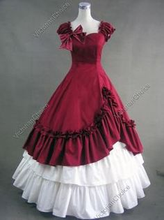 dd6e638bb08 Southern Belle Civil War Ball Gown Dress Reenactment Costume Victorian 208 S
