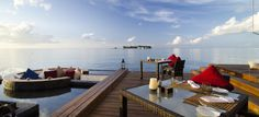 Jumeirah Dhevanafushi Resort, Maldives - Johara Restaurant Lunch Setup
