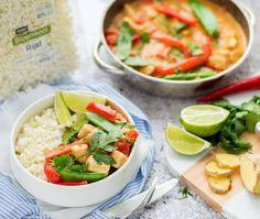 Rode curry met kip en bloemkoolrijst | Eef kookt Zo Healthy Drinks, Healthy Eating, Healthy Recipes, Healthy Food, A Food, Good Food, Yummy Food, Caprese Salad, Fresh Rolls