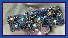 Delicious Purplicious Shibori Silk Ribbon cuff by Sharayah Sheldon 4uidzne