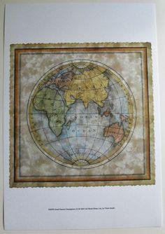 $21.99  Decorative World Globe MAP ART Print Small Eastern Hemisphere BY Vision Studio | eBay #school #world #classroom #globe