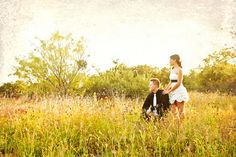field happily ever after //  Koru Wedding Style: {Woodsy Texas Elopement} Brandy & Jacob