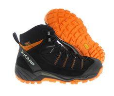 S-KARP Explorer RS - Black/Orange, Mountain Boots, Hikking, Trekking, Nordic Walking Shoes Nordic Walking, Trekking, Backpacking, Hiking Boots, Urban, Casual, Shoes, Fashion, Moda