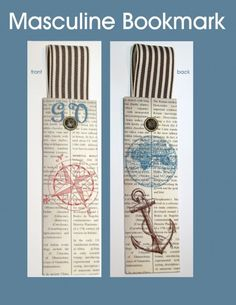 Stampin Up Masculine bookmark