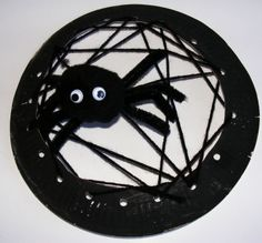 Paper plate spider web