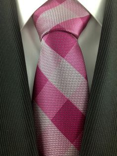 Red/Pink Plaid Necktie
