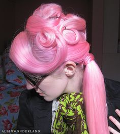 Beautiful on pretty pink hair