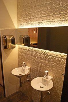 Resultado de imagen para white and green mint tile restaurant