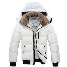 Winter Down Black White Parkas Jacket Mens Winter Parka, Hooded Winter Coat,  Winter Jackets 0650856b2a