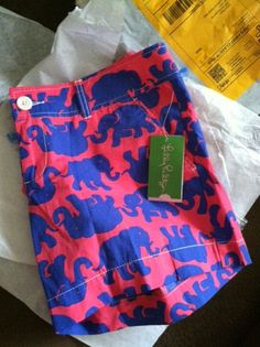 Lilly Pulitzer elephant print shorts.