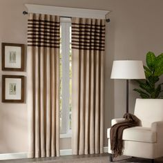 Madison Park Dune Rod Pocket Curtain Panel