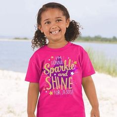 Kids T-Shirt Sparkle And Shine - Small