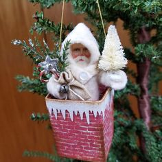 Browse unique items from NeedleandThreadLLC on Etsy, a global marketplace of handmade, vintage and creative goods. Vintage Christmas Images, Antique Christmas, Vintage Christmas Ornaments, Primitive Christmas, Handmade Christmas, Primitive Crafts, Christmas Card Crafts, Christmas Blessings, Christmas Art