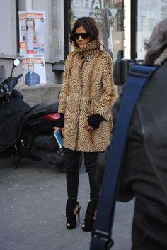 . Leopard coat