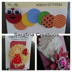 Handmade Kids Birthday Cards #colour #cute #children #handmade