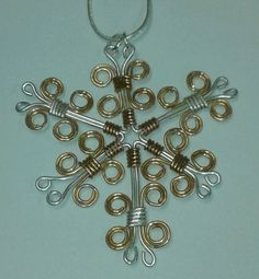 Check out this item in my Etsy shop https://www.etsy.com/listing/173282280/wire-wrapped-snowflake-pendant