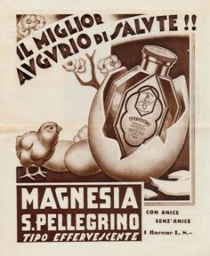 J0748 Magnesia SAN PELLEGRINO - Pubblicità d'epoca - 1933 Old advertising