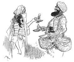 Robida Aladin illustration page11 - Aladdin - Wikipedia, the free encyclopedia