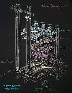 Tower of Terror blueprint | disney world | hollywood studios