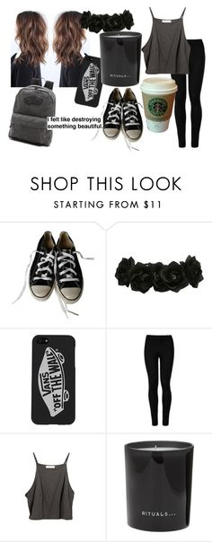 """""""Rituals"""" by doctorhorrible ❤ liked on Polyvore featuring Converse, Vans, Wolford, MANGO and Rituals"""