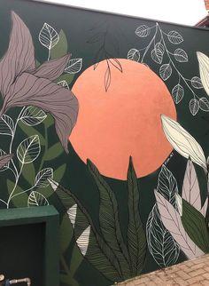 Wall Painting Decor, Mural Wall Art, Creative Wall Painting, Garden Mural, Murals Street Art, Street Wall Art, Bedroom Murals, Wall Drawing, Motif Floral