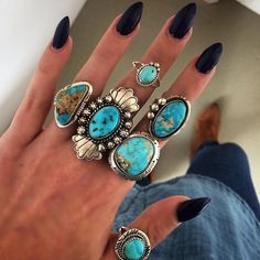 ✧✧✧denîm on denîm✧✧✧ layering blues with our new blue stones ✧✧✧ shop new Native American turquoise on www.childofwild.com #childofwild #turquoise