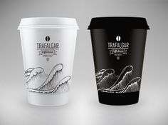 Trafalgar coffee package by Milena Gajovic, via Behance