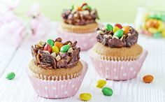 Easter Nest Honey and Nut Cupcakes