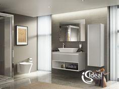 IDEAL STANDARD Ideal Standard piedāvā pašus mūsdienīgākos dizaina risinājumus dzīvojamām telpām un komerctelpām.Ideal Standard produkcija jau sen kļuvusi par augsta līmeņa tehnoloģiju un dizaina kvalitātes kopumu. Korporācijas pamatnodarbošanās ir santehnikas un papildus aprīkojuma ražošana dzīvojamajām telpā, kā arī sabiedriskajām telpām. Kompānijai ir principiāli jauna pieeja paredzot nokomplektēt visu vannas istabu vienotā stilā izmantojot pašus labākos un augstvērtīgākos materiālus. Ideal Standard, Smart Home, Home Remodeling, Mirror, House, Furniture, Home Decor, Bathrooms, Concept