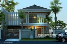 front elevation modern house 1 kanal with home garden design layout and entrance door design for house House Arch Design, Dream Home Design, Facade Design, Home Design Plans, Modern House Design, Exterior Design, Main Entrance Door Design, Modern Entrance, Architectural Design House Plans