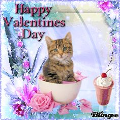 Valentines Day Cartoons, Happy Valentines Day Wishes, Valentines Day Dog, Happy Holidays Greetings, Good Night Greetings, Bible Photos, Hug Gif, Valentine Images, Kitten Love